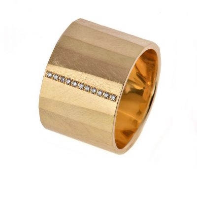 Matthias Grosche Facette Ring FairTrade Gold