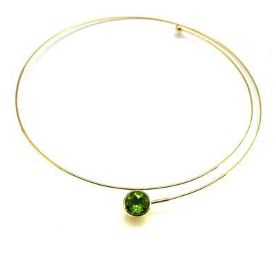 750/-Gelbgold Peridot