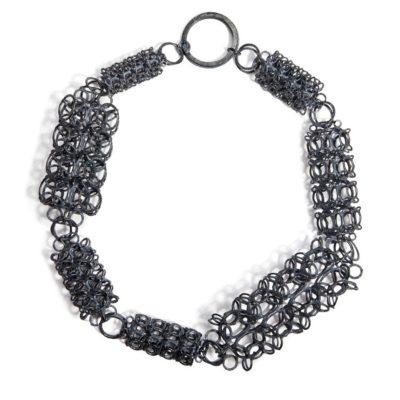 Collier 925/-Silber oxidiert
