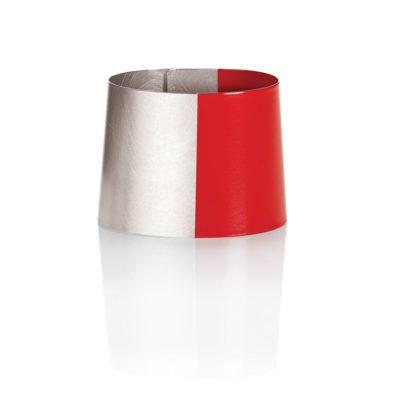Armreif Colorfields 925/-Silber teilweise rot lackiert