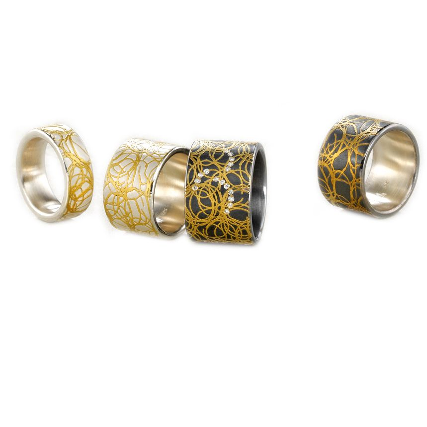 LINKS 900/-Gelbgold 750/-Gelbgold 925/-Silber RECHTS 900/-Gelbgold 750/-Gelbgold 925/-Silber oxidiert