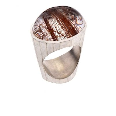 925/-Silber 500/-Palladium 1 Rutilquarz 34,97 ct