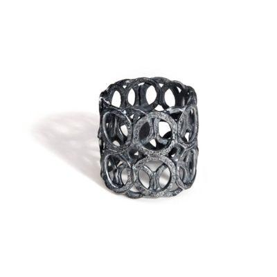 Ring 925/-Silber oxidiert