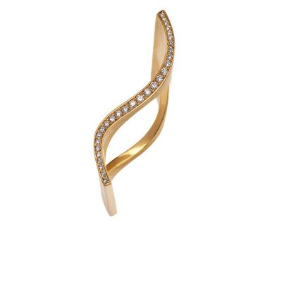 750/-Gelbgold 29 Brillanten 0,18ct