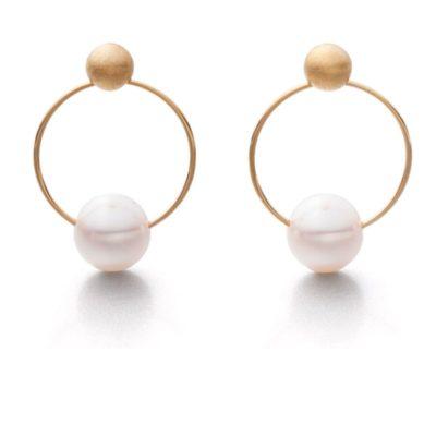 Ohrhänger 925/-Silber vergoldet Perle 6,5mm