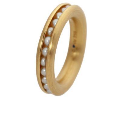 750/-Gelbgold Perlen