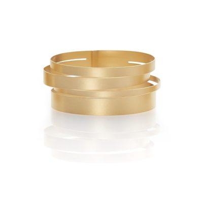 Armreif Stripes Gold 750/-Gelbgold