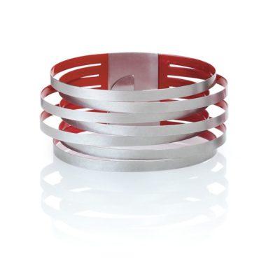 925/-Silber rot lackiert
