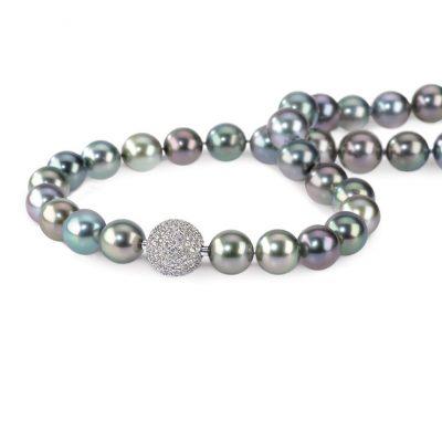 Tahitiperlen 925/-Silber mit Brillanten